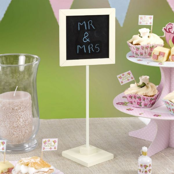 Ivory Chalkboard Table Sign (5)